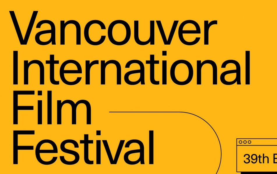 The VIFF poster with a yellow background and black text