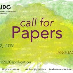 A picture of the LSURC 2020 call for papers poster in yellow and green.