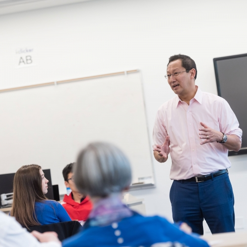 UBC President Santa Ono was a guest lecturer for the Language Sciences Living Language course